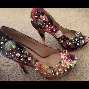 Size 7, Aldo studded peep toe heels